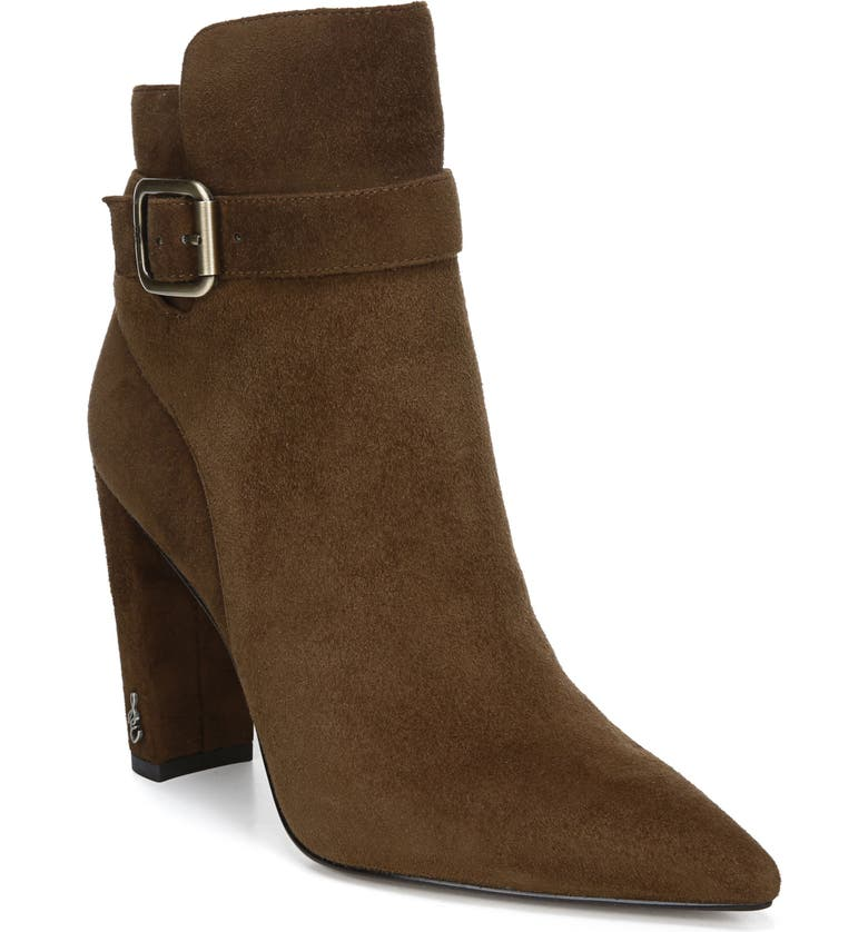 SAM EDELMAN Rita Pointed Toe Bootie, Main, color, TOASTED COCONUT SUEDE