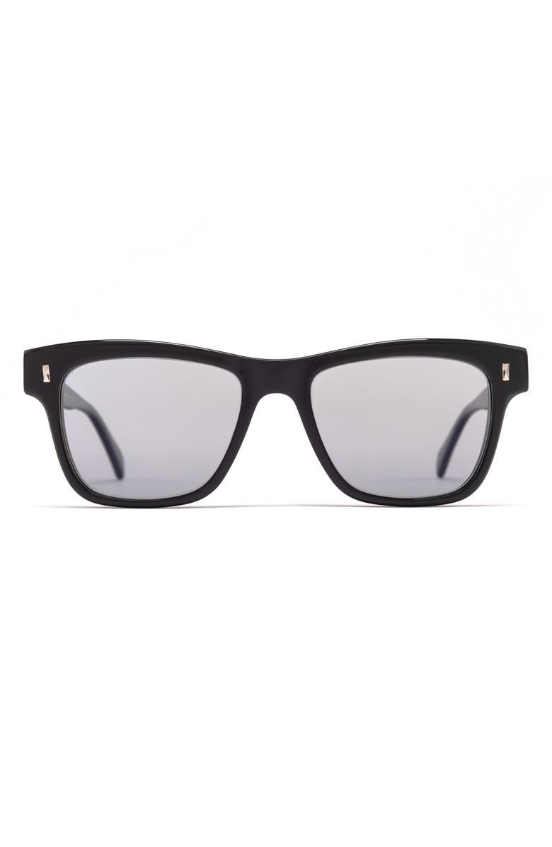 SALT. Joe 55mm Polarized Sunglasses, Main, color, BLACK