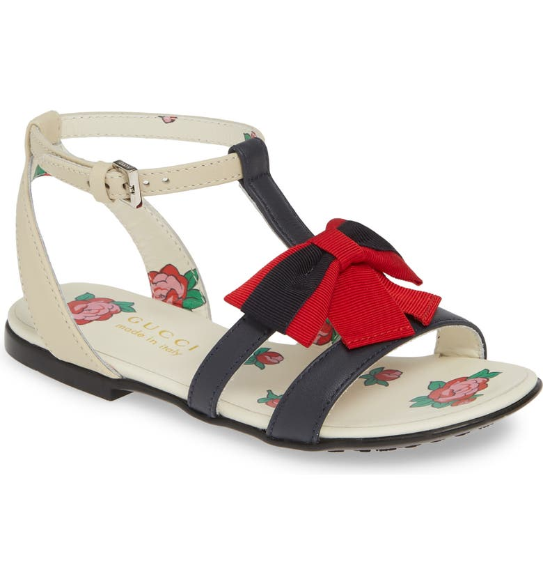 GUCCI Jane Bow Sandal, Main, color, MULTI BLUE