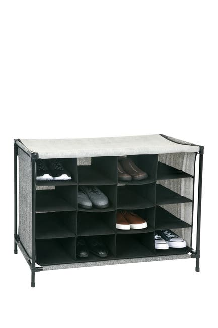 Image of Kennedy International Inc. Black Simplify 16 Compartment Shoe Cubby