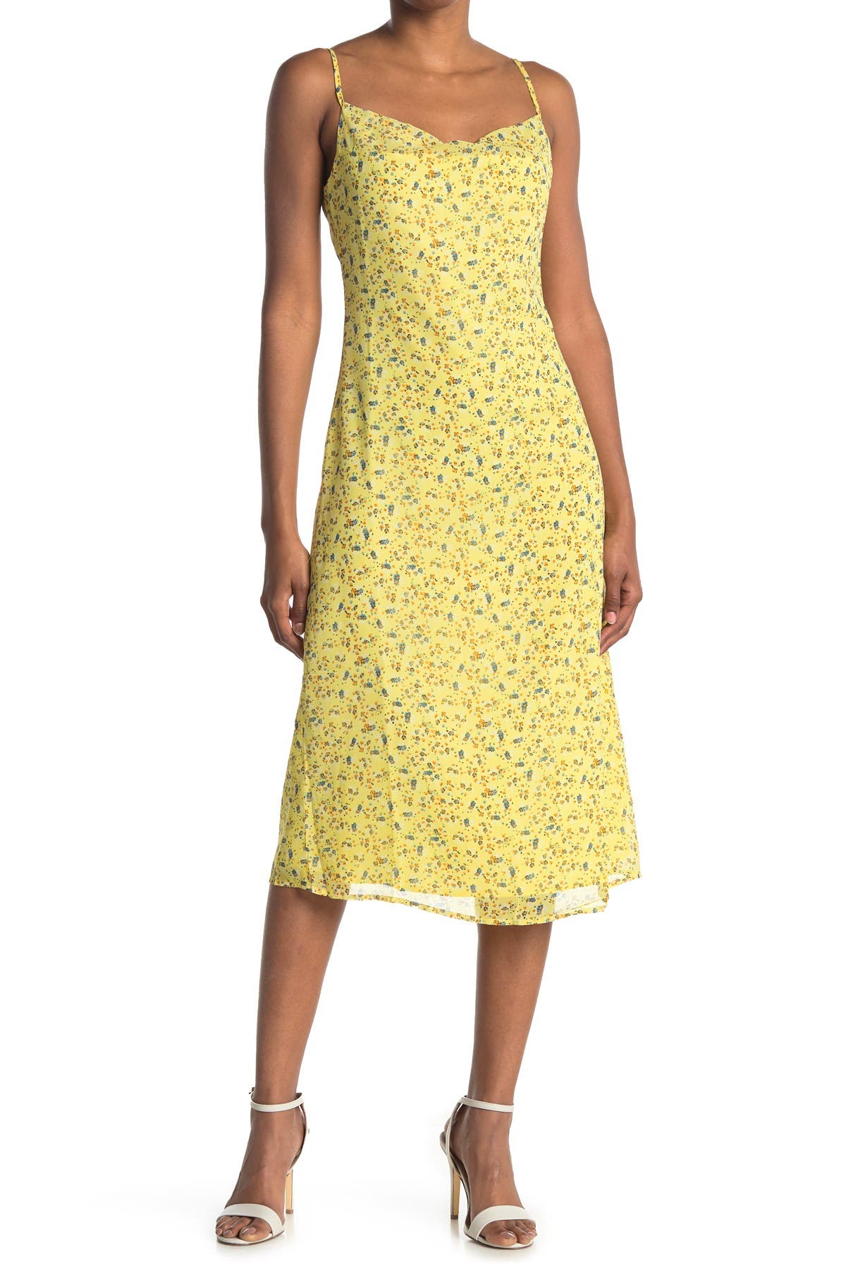 Image of re:named apparel Marley Cowl Neck Cami Midi Dress