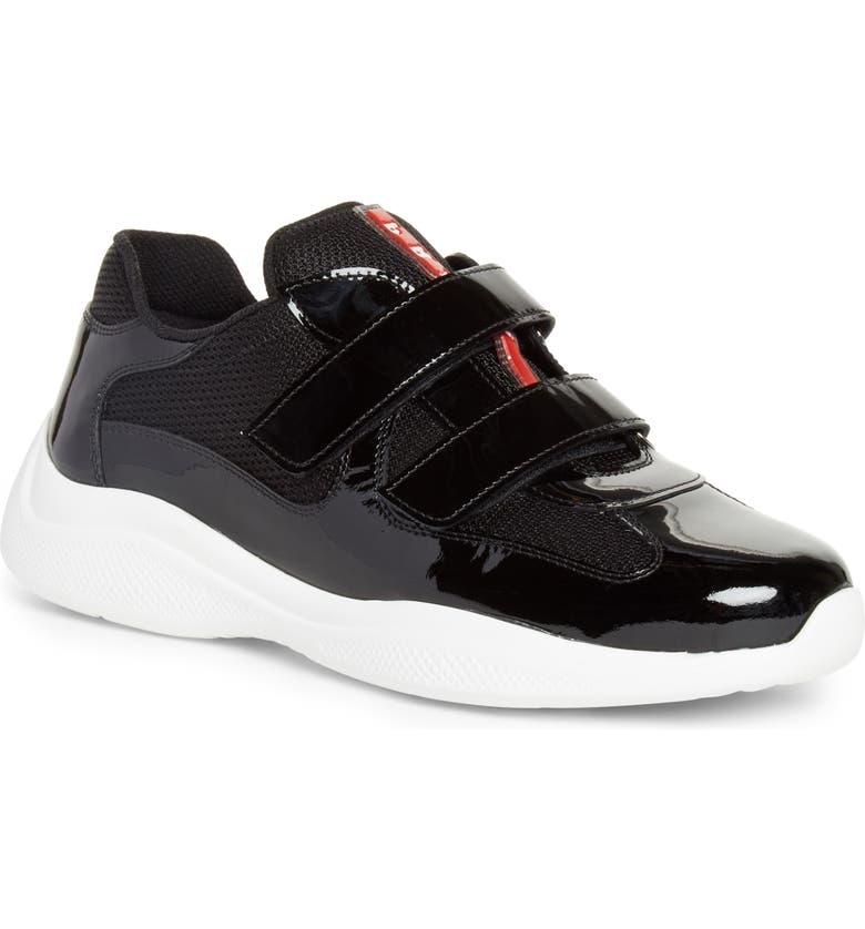PRADA Low Top Sneaker, Main, color, BLACK/ WHITE