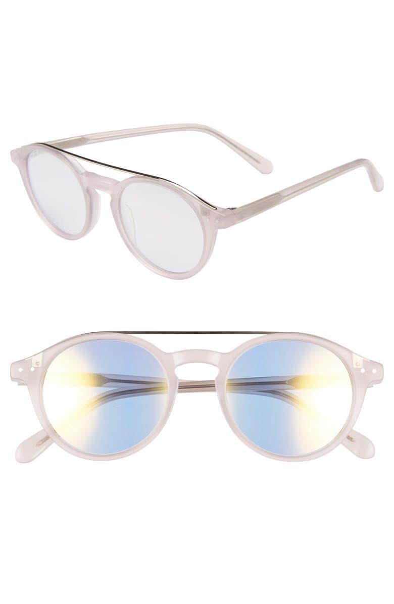 MADEWELL Omaha Top-Bar 50mm Sunglasses, Main, color, 650