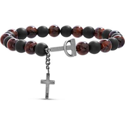 Steve Madden Beaded Cross Bracelet