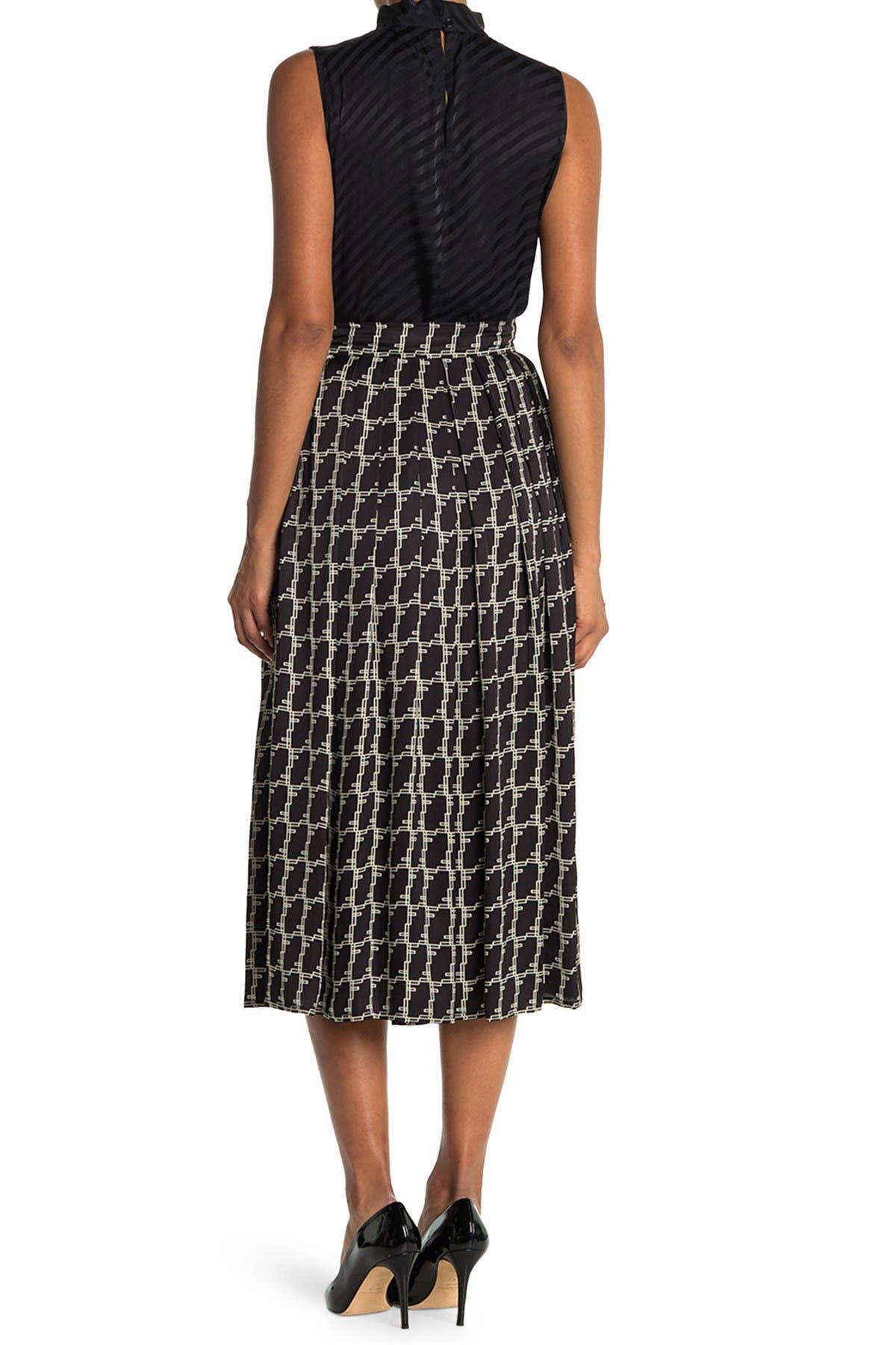 Image of SEVENTY VENEZIA Geometric Print Midi Skirt