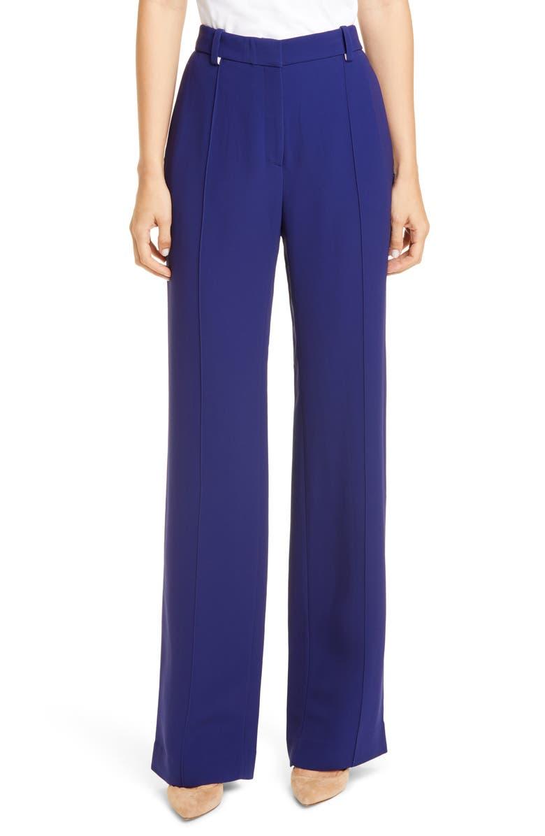 ROSETTA GETTY Straight Leg Cady Pants, Main, color, COBALT