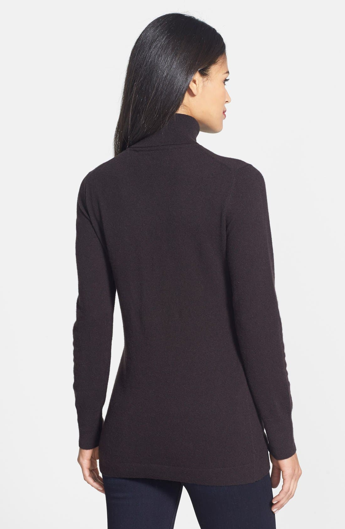 ,                             Long Cashmere Turtleneck Sweater,                             Alternate thumbnail 14, color,                             201