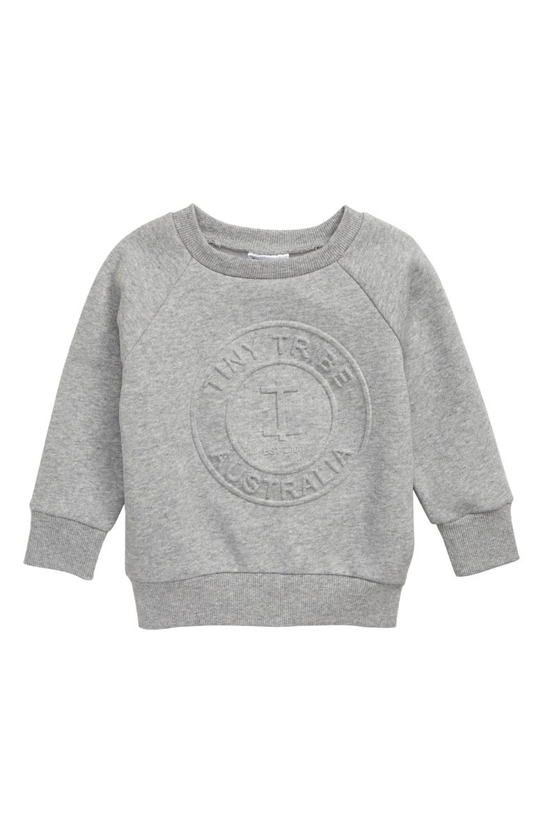 TINY TRIBE Sweatshirt, Main, color, GREY MARLE