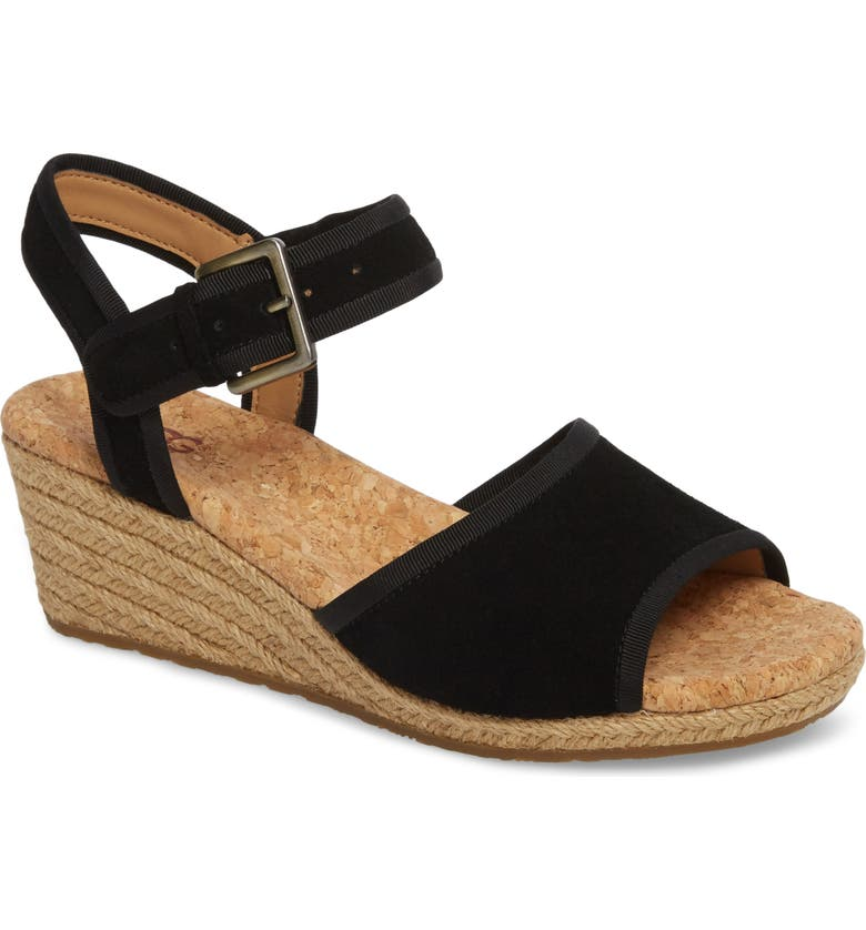UGG<SUP>®</SUP> Maybell Wedge Sandal, Main, color, 001
