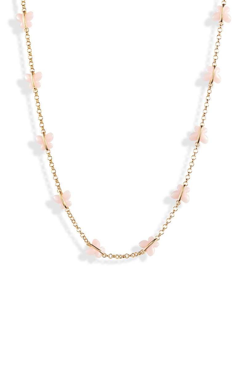 BRACHA Butterfly Kisses Choker Necklace, Main, color, GOLD / PINK