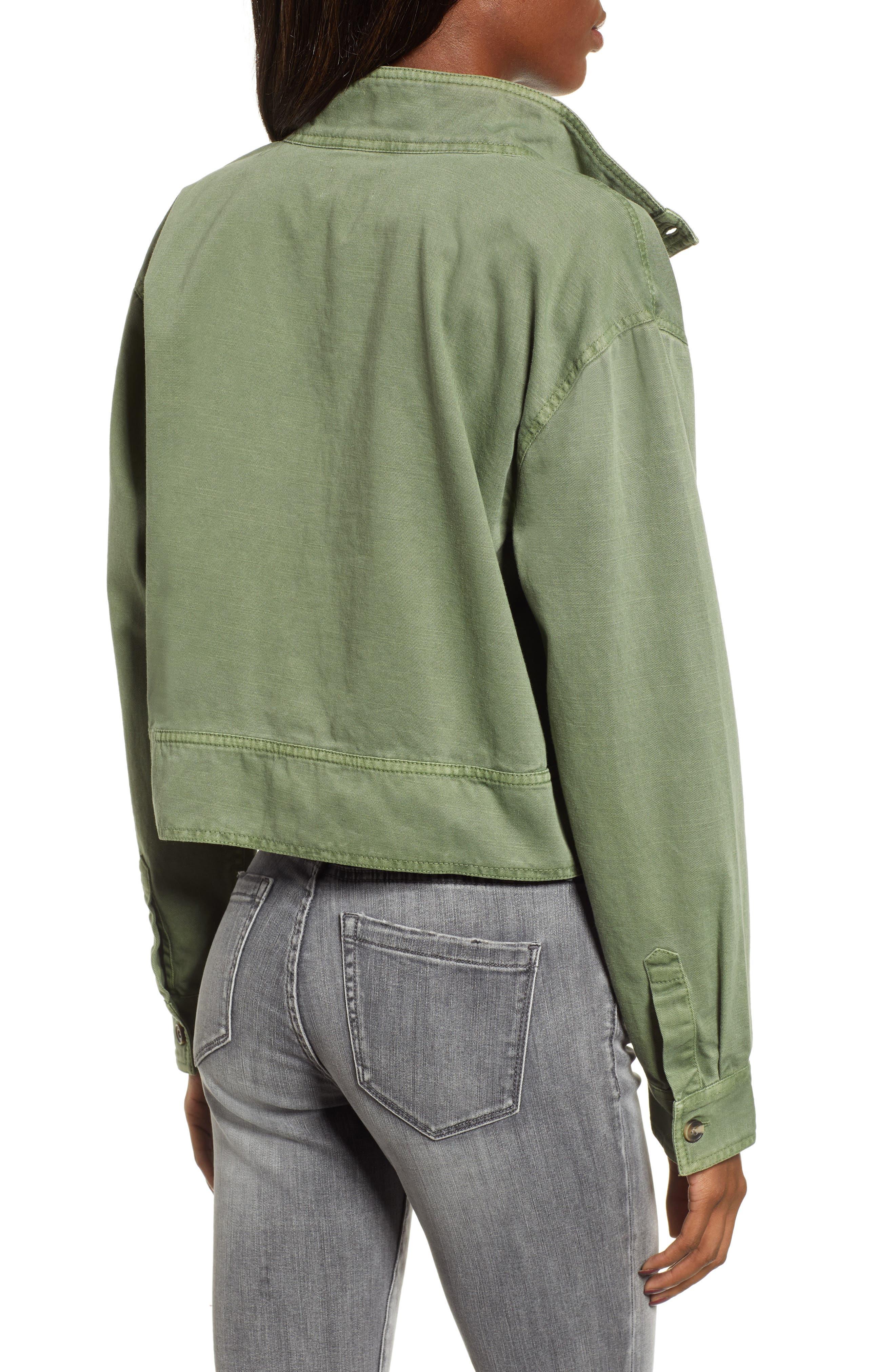 ,                             Crop Military Jacket,                             Alternate thumbnail 2, color,                             301