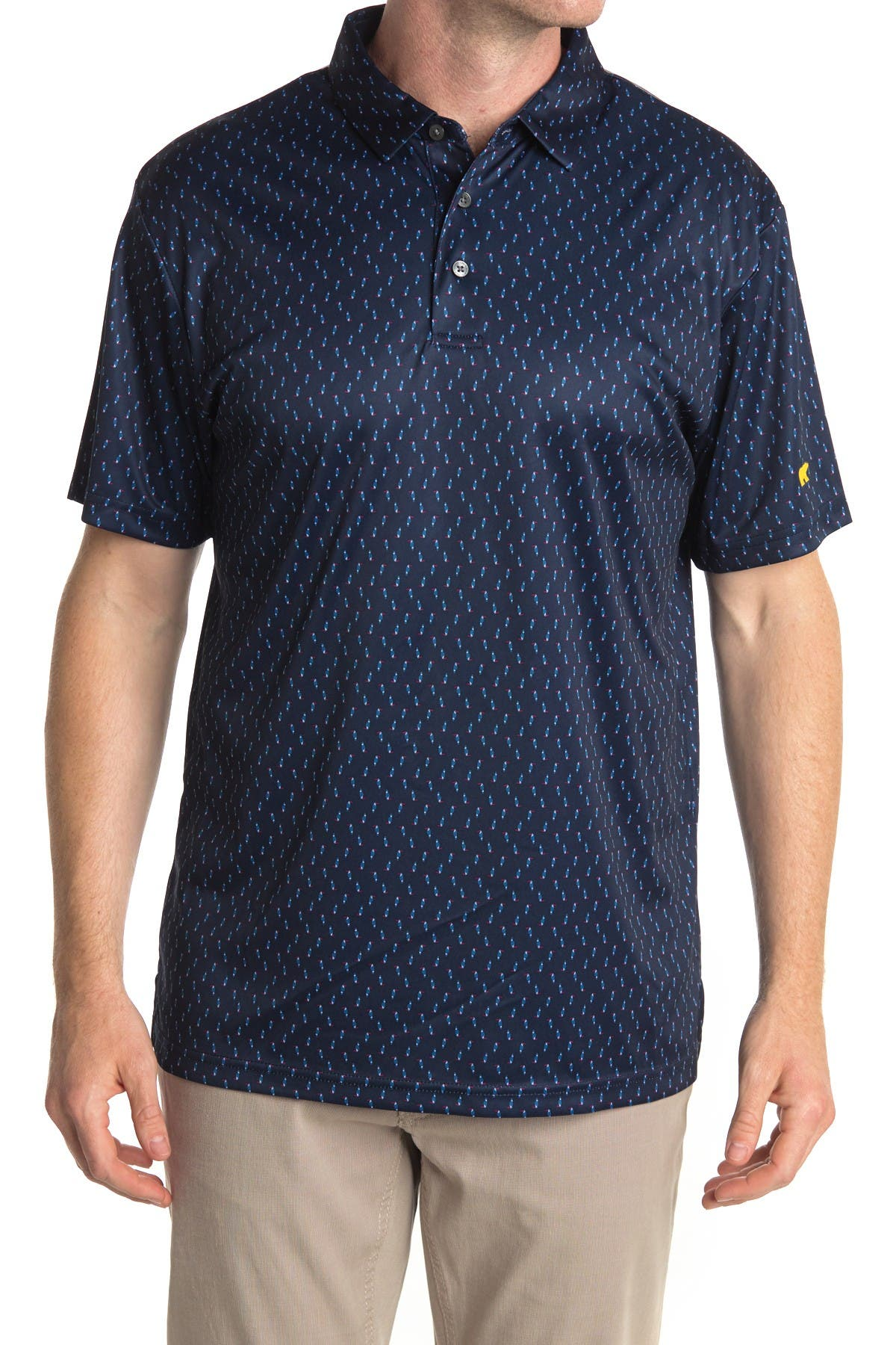 Image of Jack Nicklaus Short Sleeve Toucan Print Printed Polo