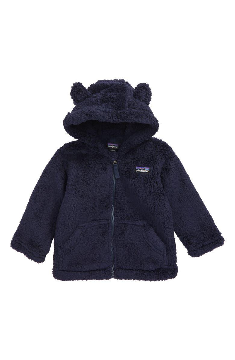 PATAGONIA Furry Friends Fleece Hoodie, Main, color, NENA NEW NAVY