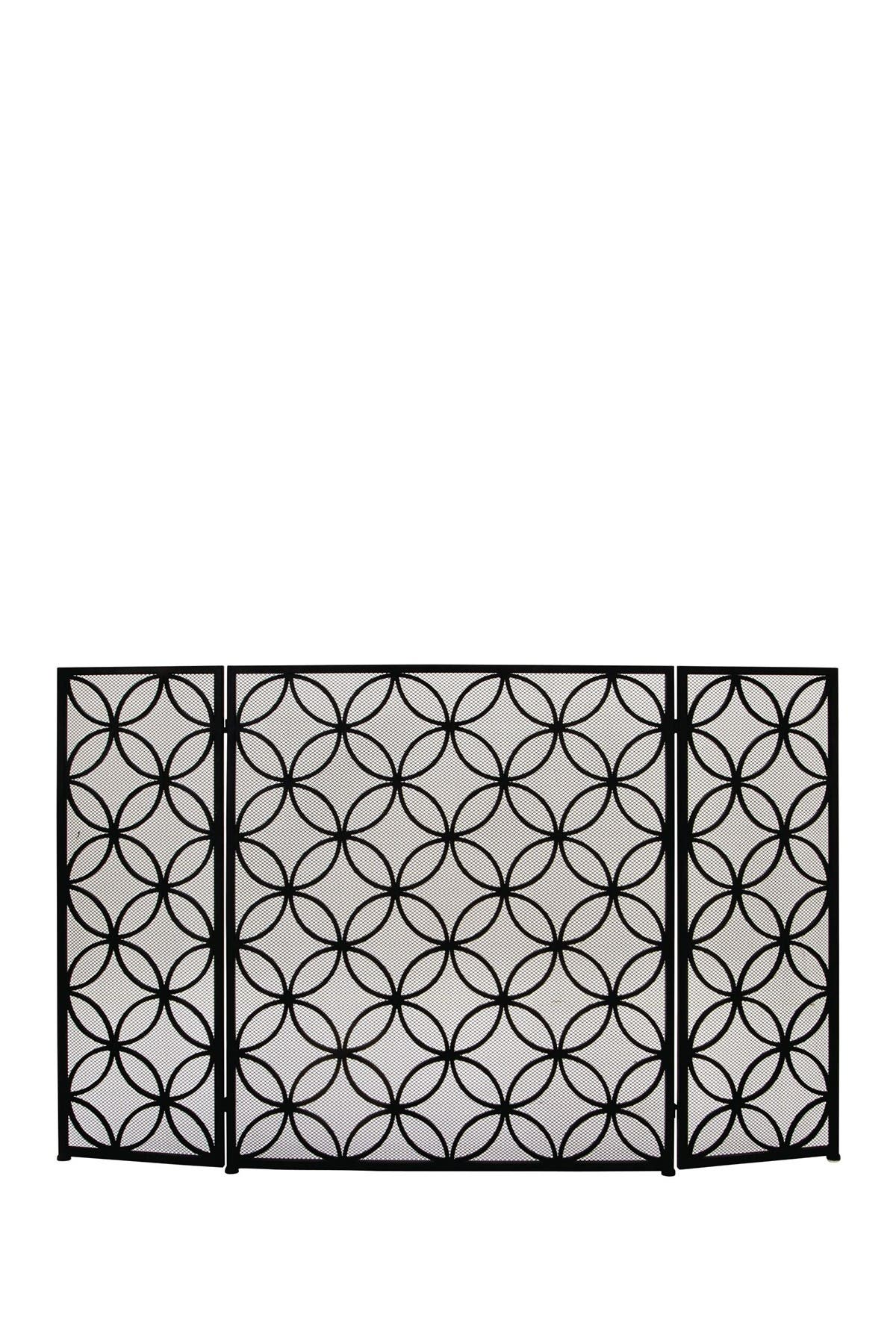 Image of Willow Row Metal Circle Trellis Fire Screen