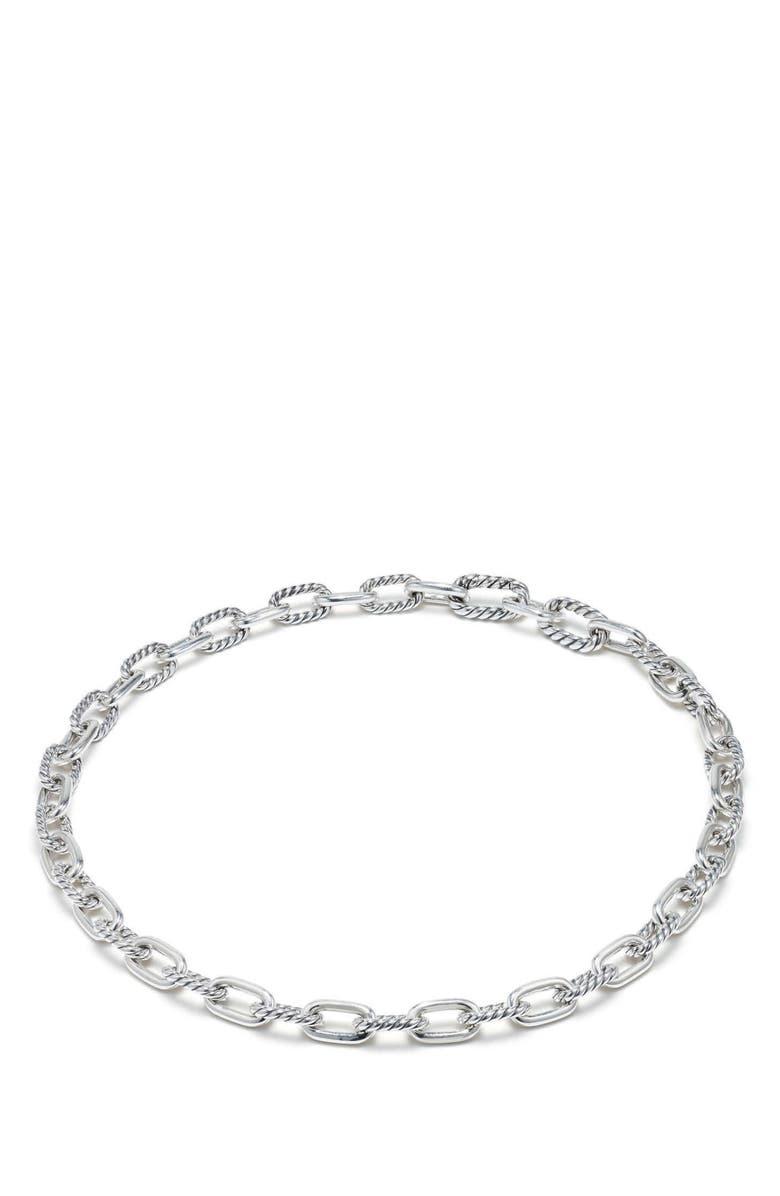 DAVID YURMAN DY Madison Small Chain Necklace, Main, color, SILVER