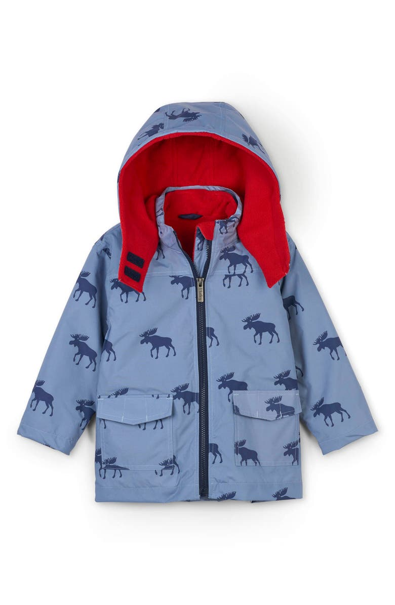 HATLEY Moose Silhouettes 4-in-1 Hooded Winter Jacket, Main, color, BLUE