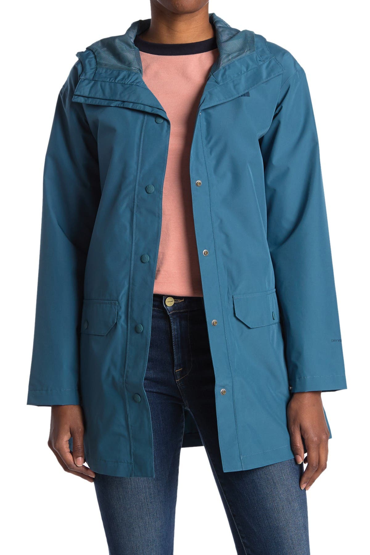 Image of The North Face Woodmont Hooded Waterproof Rain Jacket