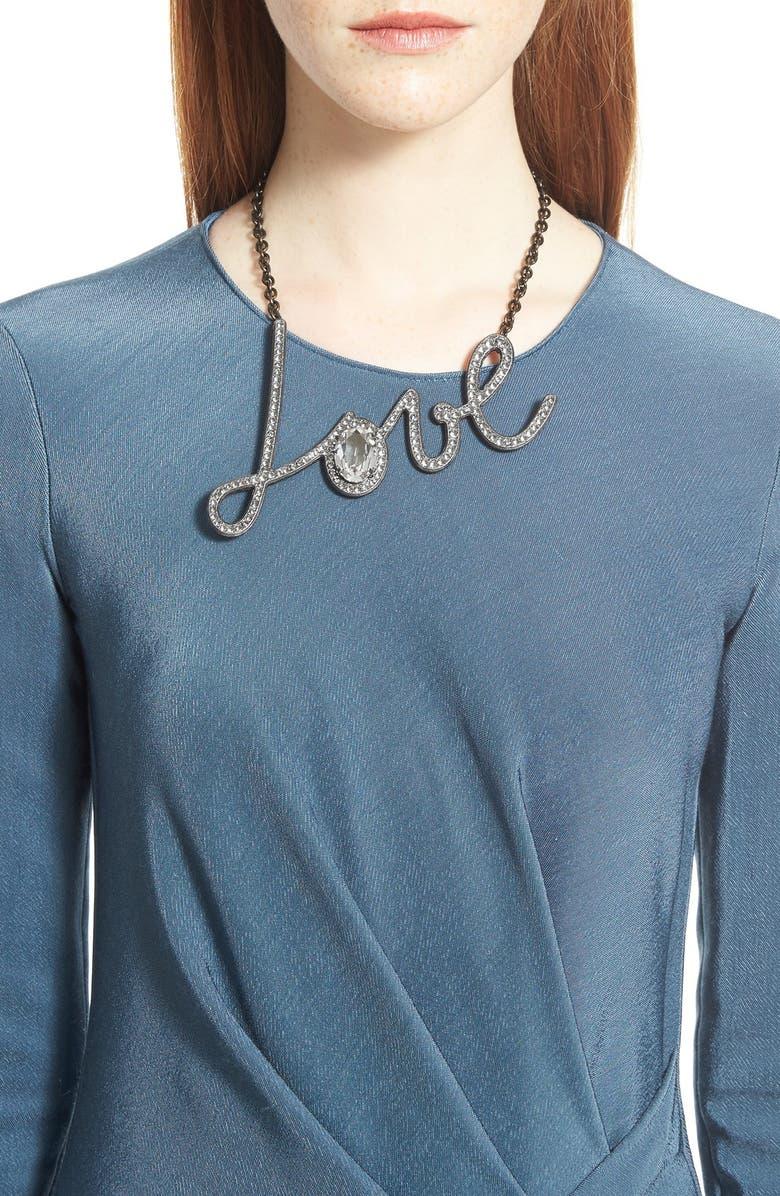LANVIN 'Love' Pendant Necklace, Main, color, 960