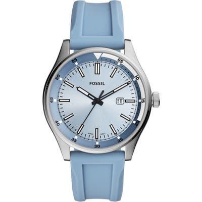 Fossil Belmar Silicone Strap Watch, 4m