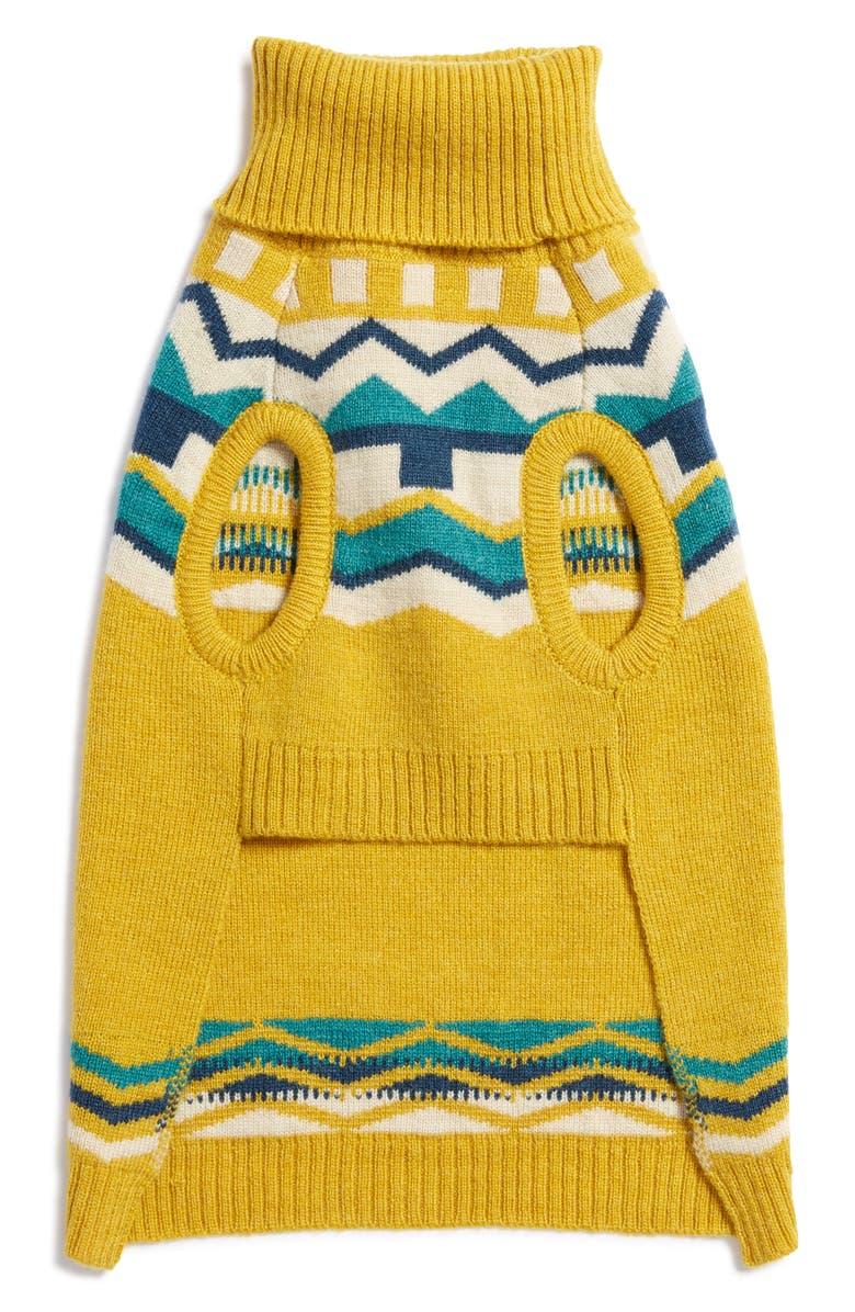 LOVETHYBEAST Sienna Fair Isle Wool Dog Sweater, Main, color, 250