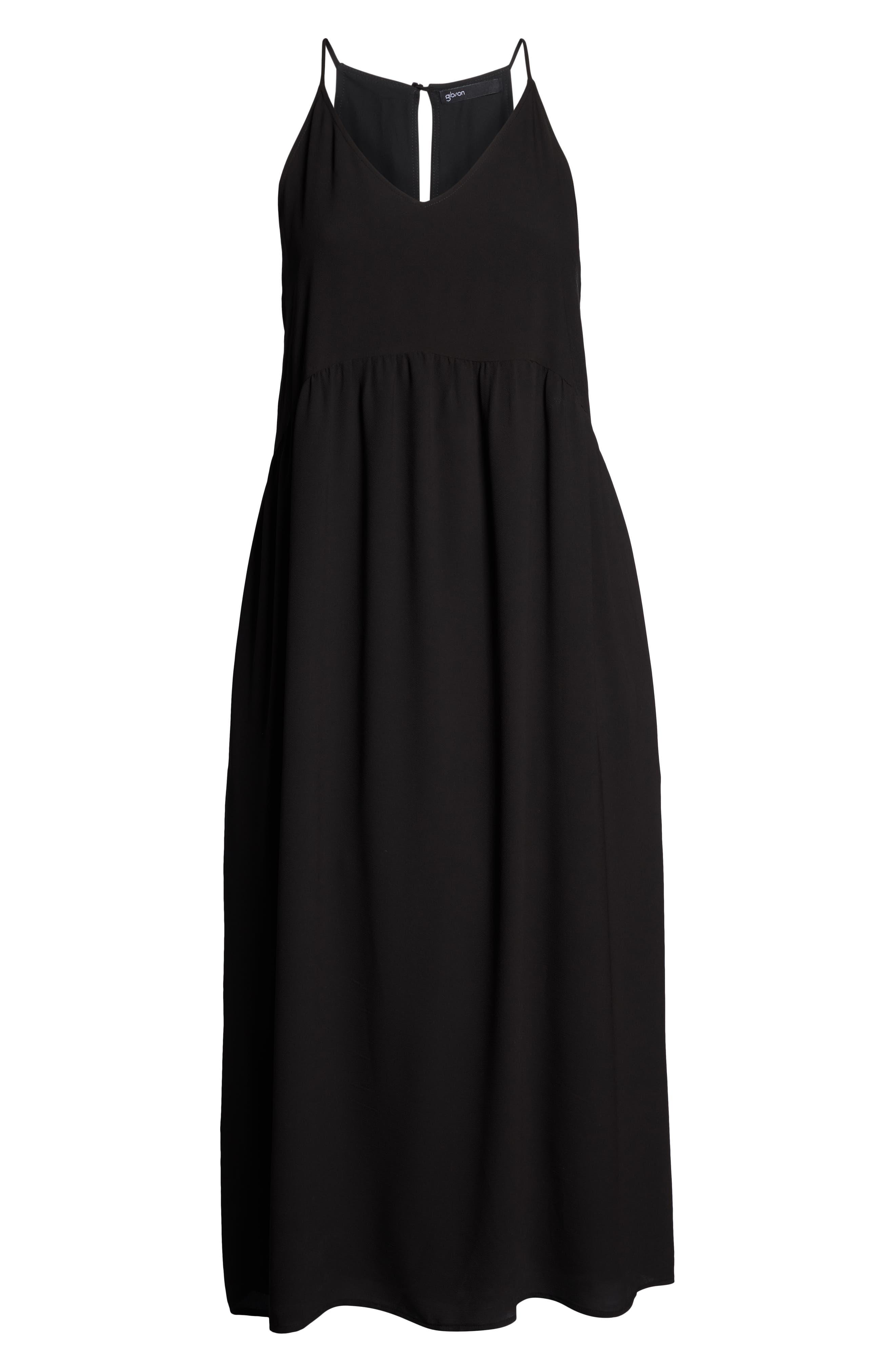 ,                             x Hi Sugarplum! Palm Springs Festival Maxi Dress,                             Alternate thumbnail 7, color,                             BLACK