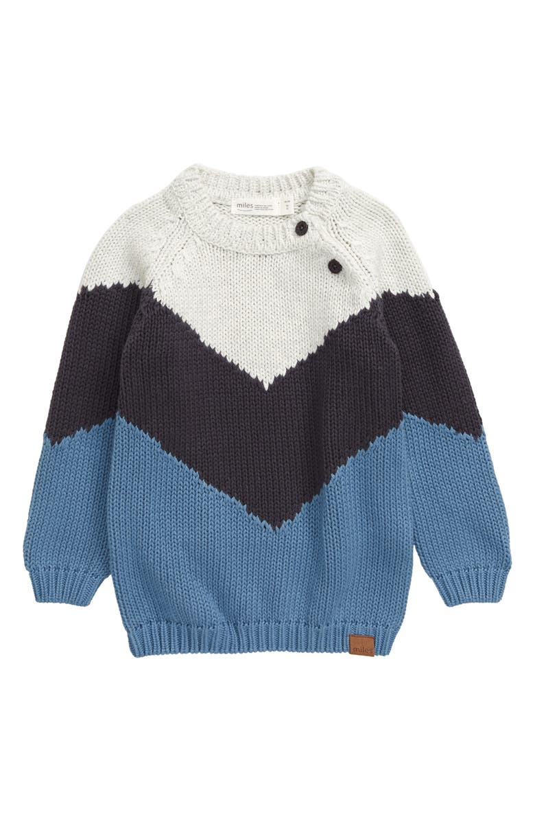 MILES BABY Sweater, Main, color, BLUE