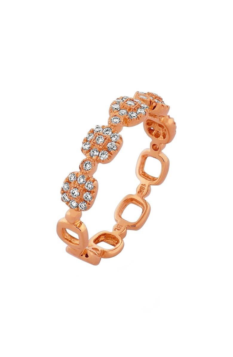 BONY LEVY Stackable Diamond Ring, Main, color, ROSE GOLD