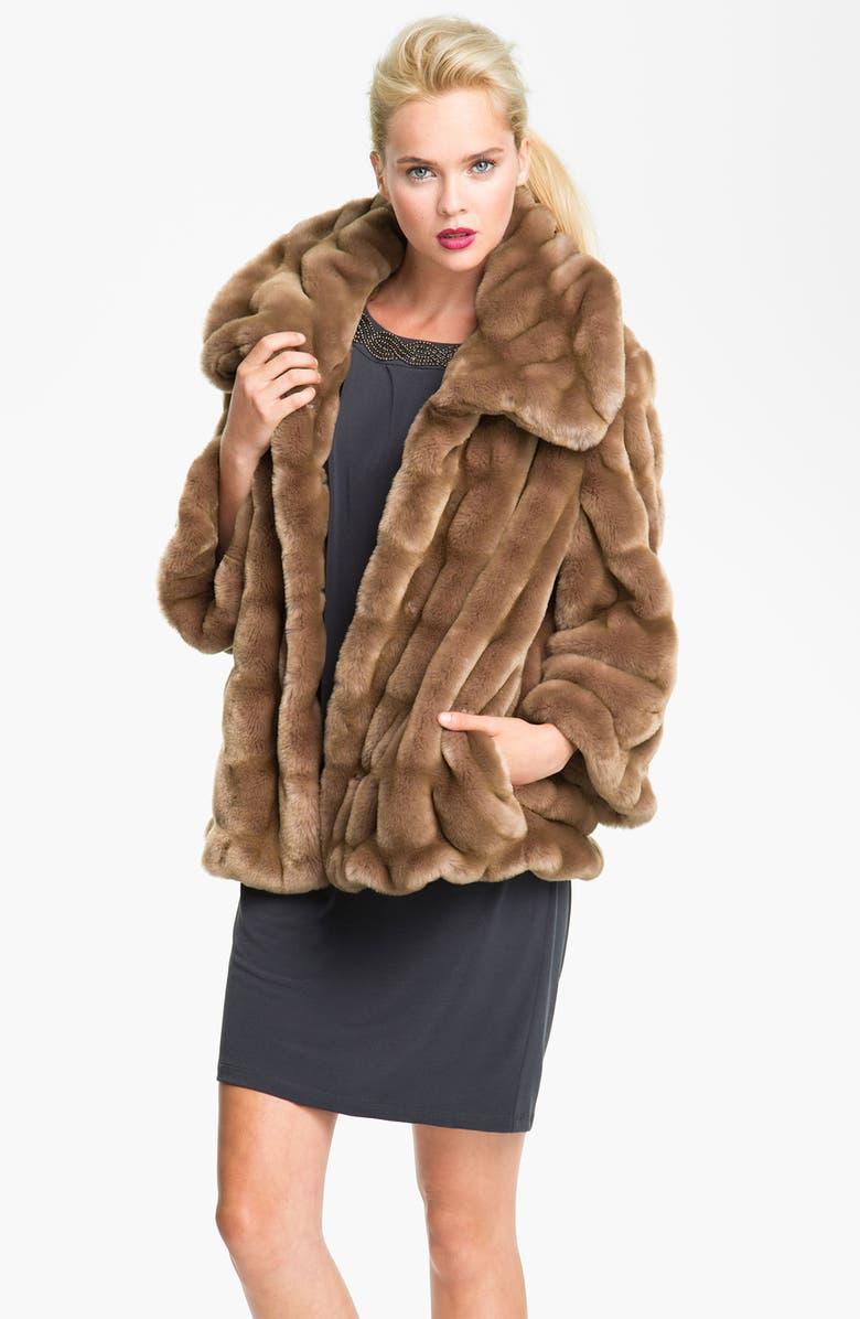 ELIE TAHARI Faux Mink Jacket, Main, color, 250