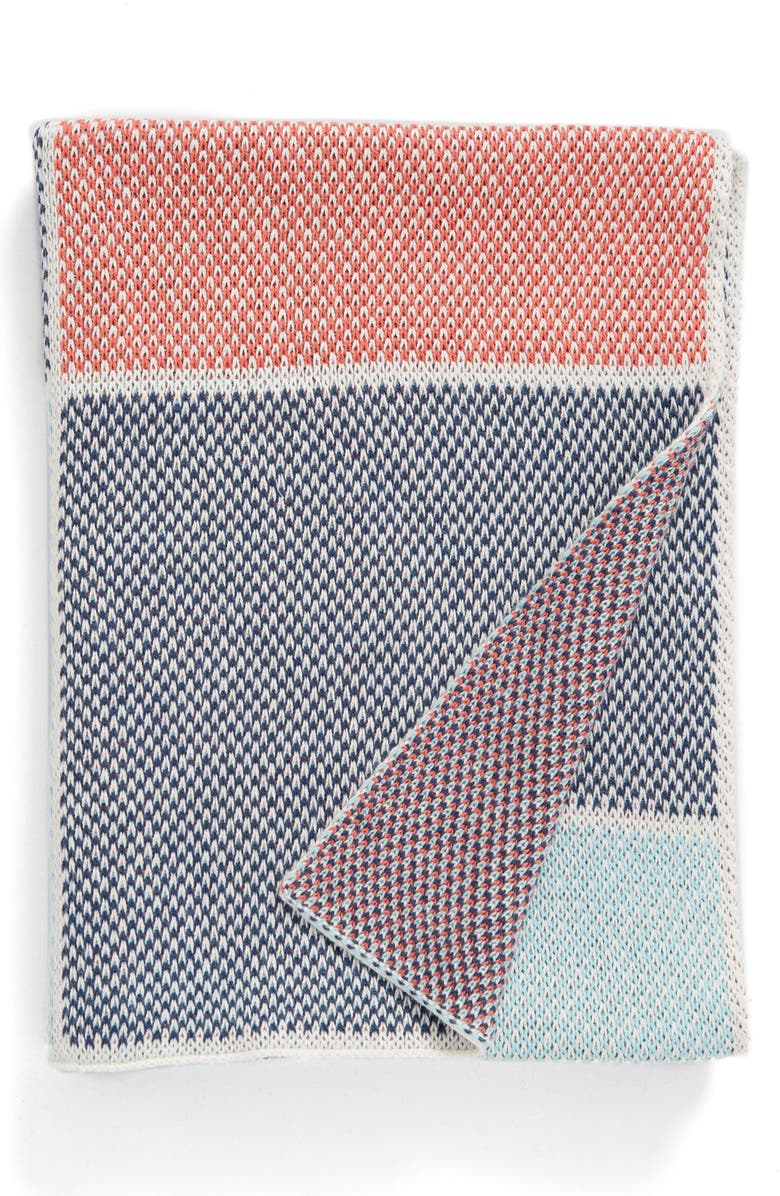 STEM BABY Organic Cotton Sweater Blanket, Main, color, 410