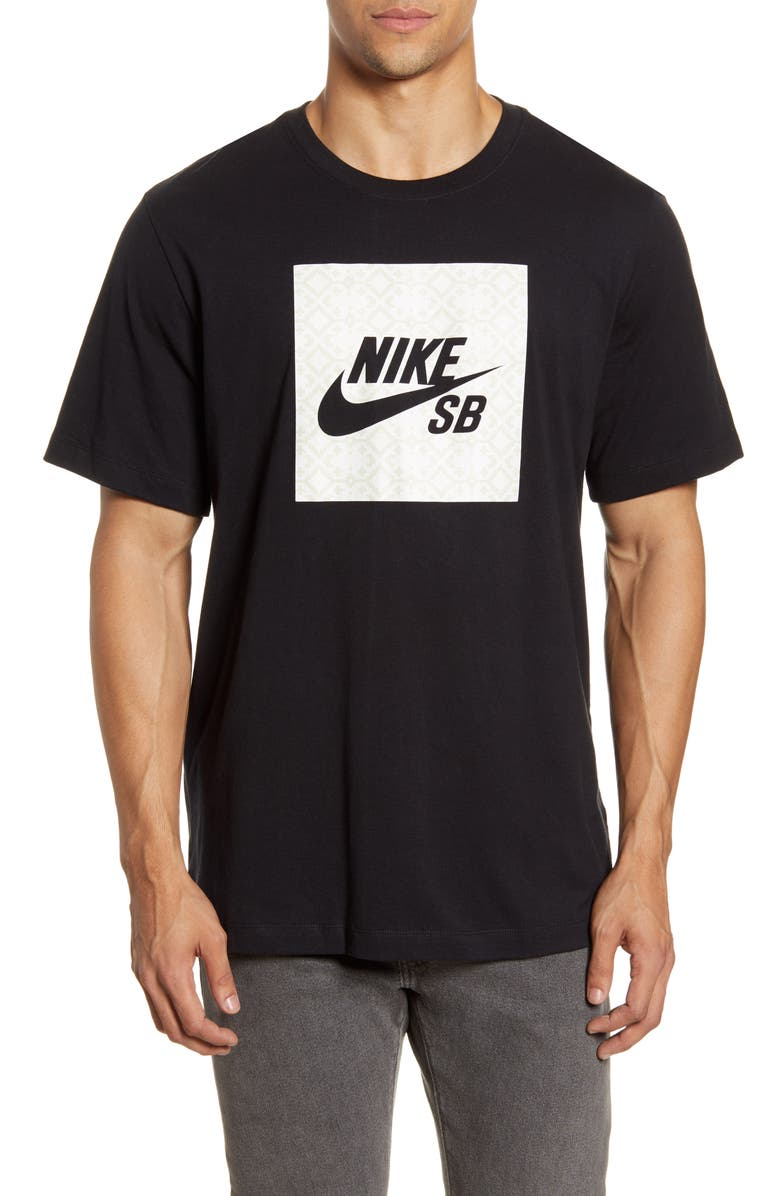 NIKE SB Logo Nomad Graphic T-Shirt, Main, color, BLACK