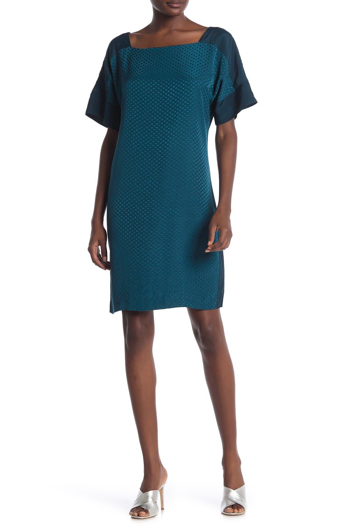 Image of CLUB MONACO Achmand Tonal Dot Print Shift Dress