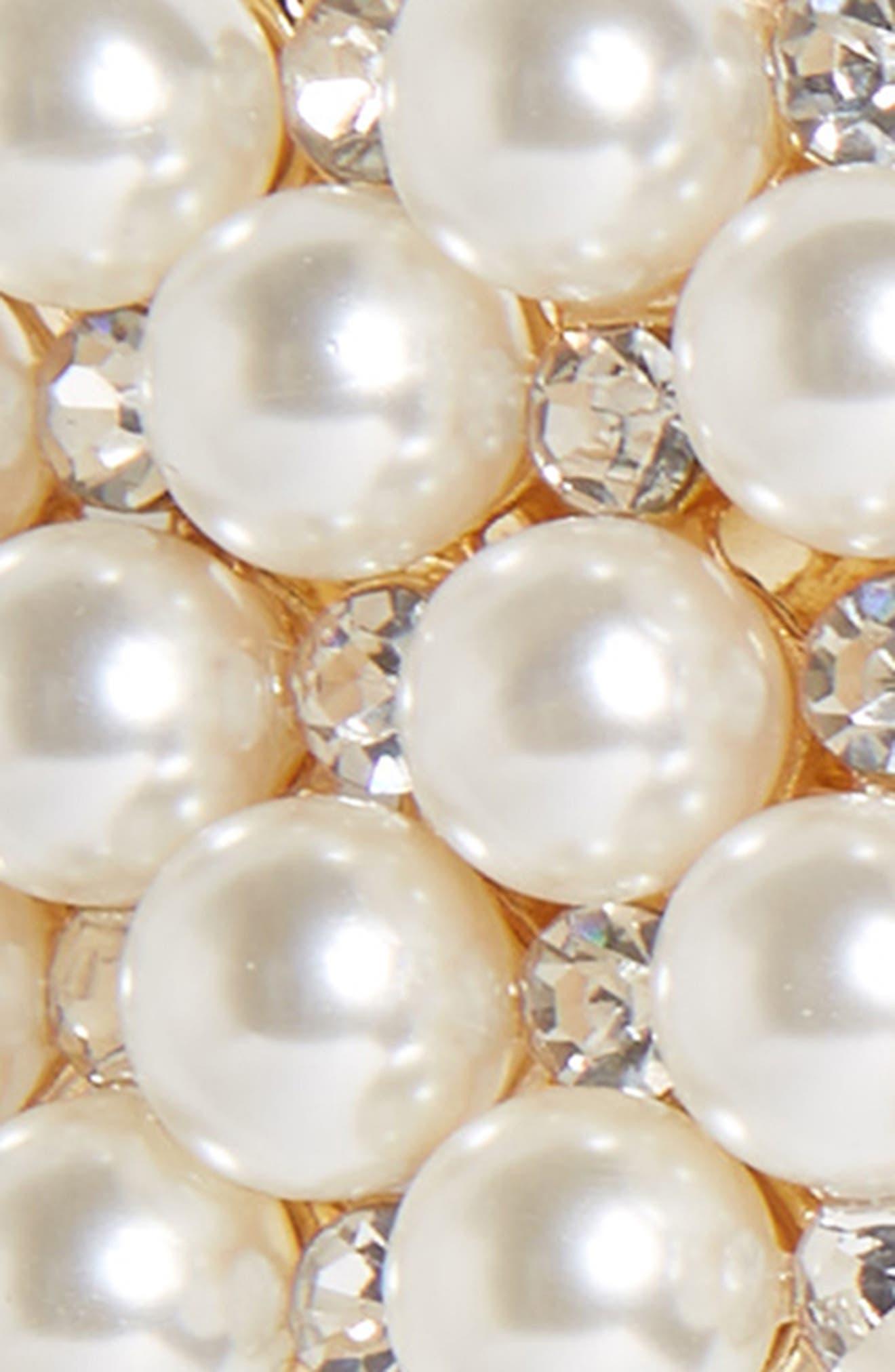 ,                             Crystal & Imitation Pearl Embellished Barrette,                             Alternate thumbnail 3, color,                             710