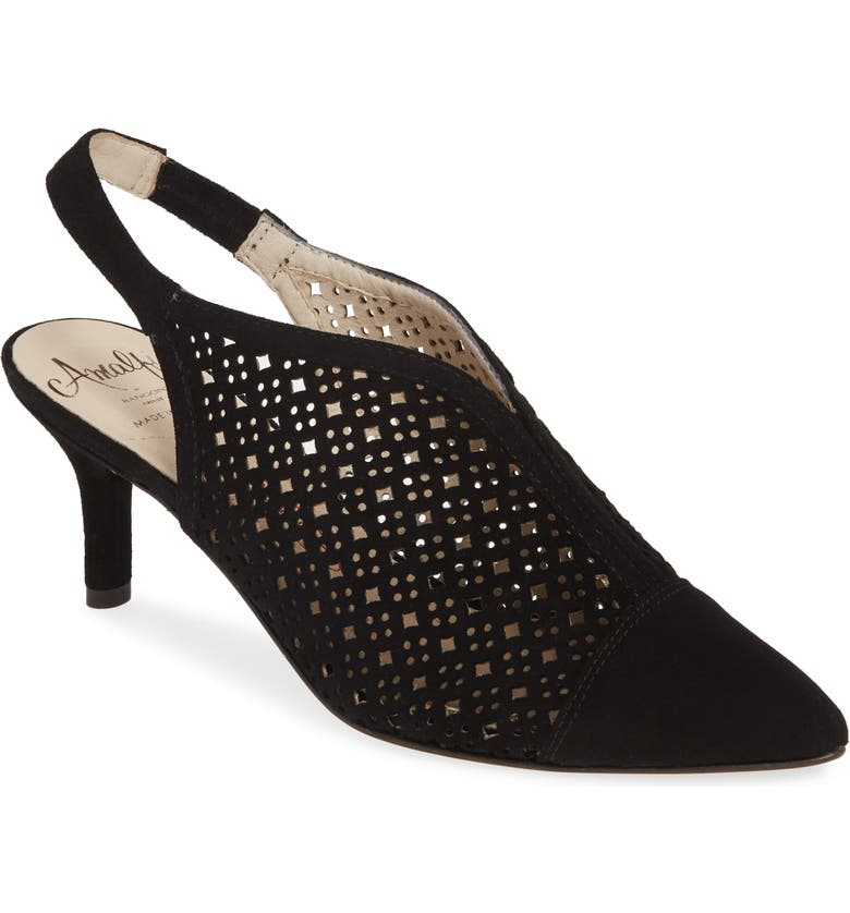 AMALFI BY RANGONI Platino Slingback Pump, Main, color, BLACK LEATHER