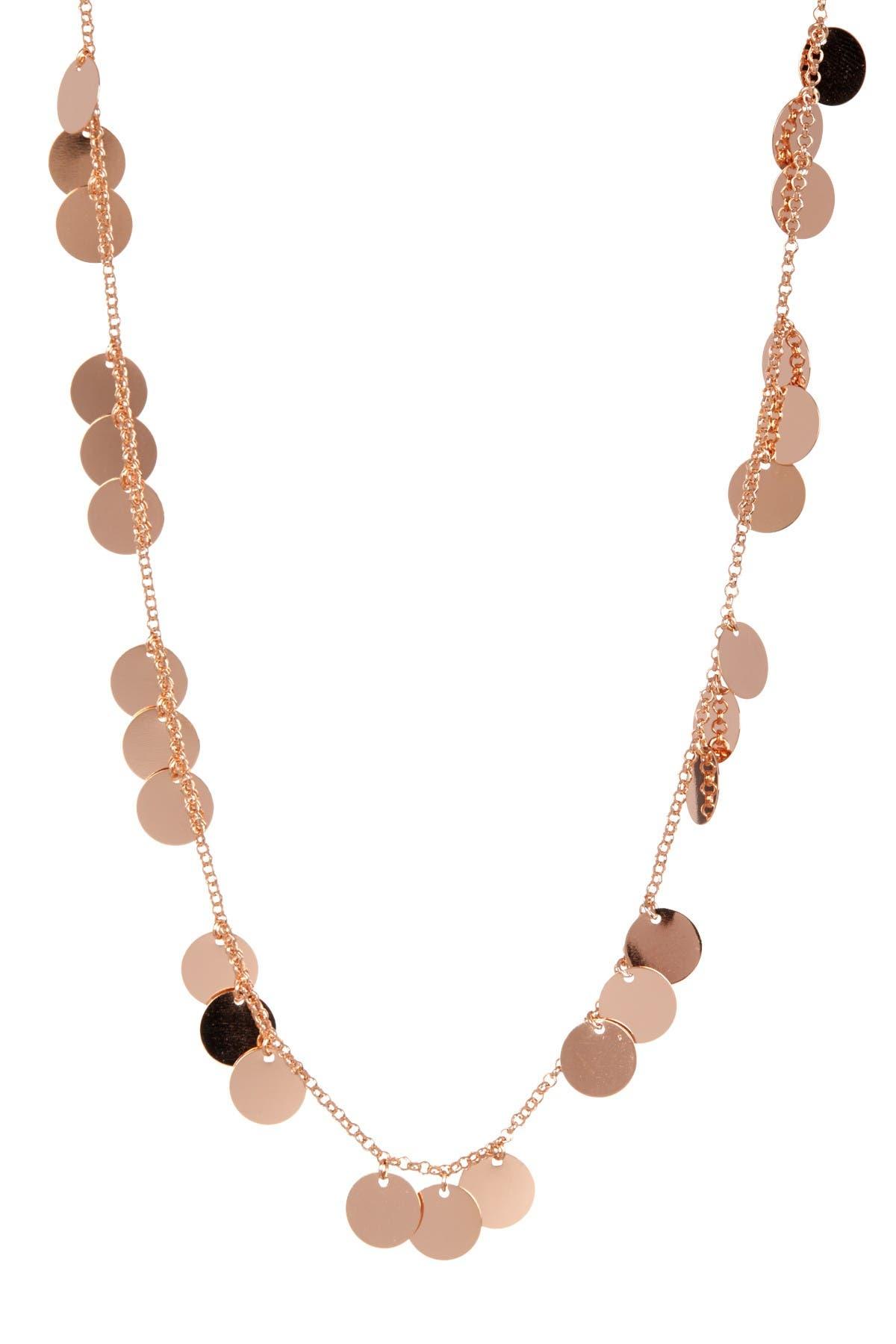 Image of Rivka Friedman 18K Rose Gold Clad Satin Disc Necklace