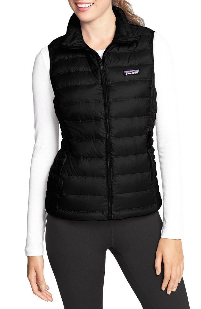 PATAGONIA Down Vest, Main, color, BLACK