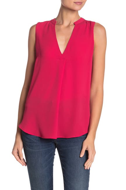 Image of Lush V-Neck Flowy Tunic Tank Top