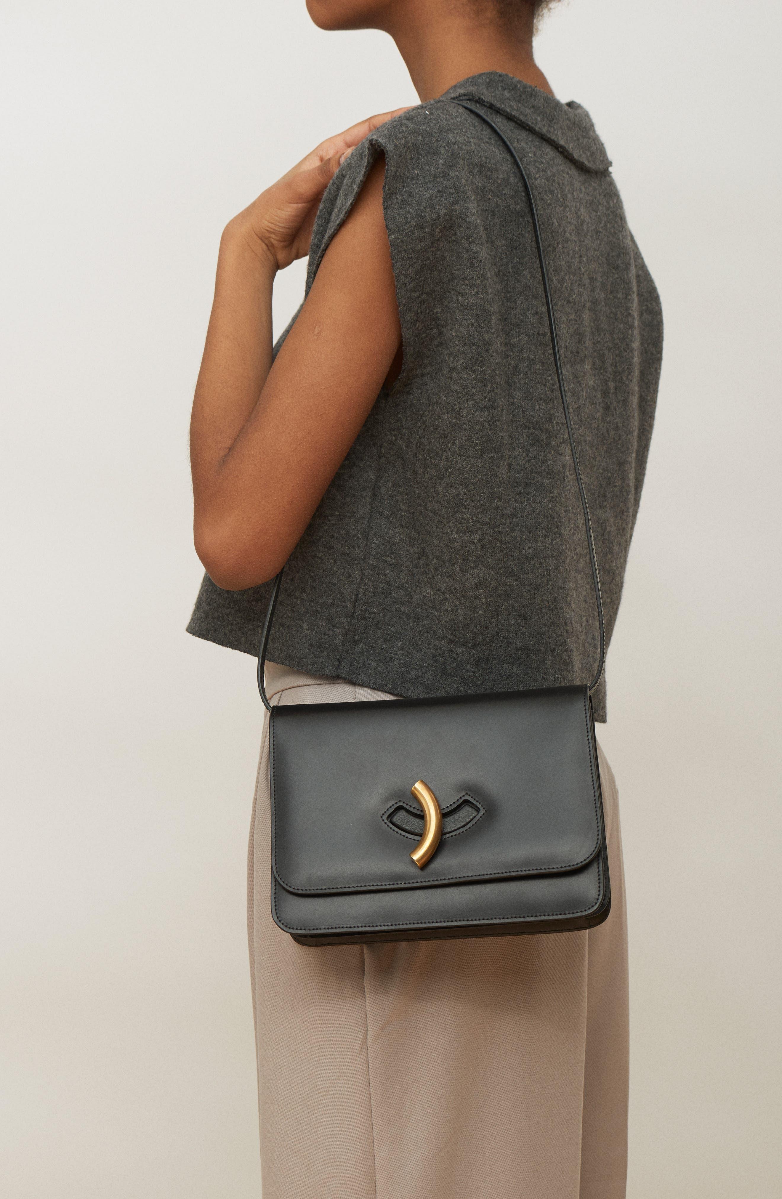 Macheroni Leather Crossbody Bag