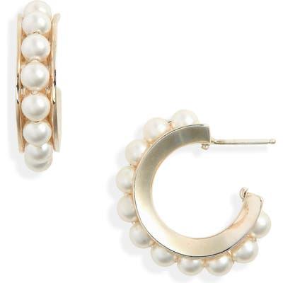 Sophie Buhai Imitation Pearl Hoop Earrings