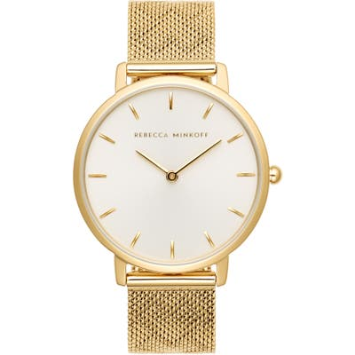 Rebecca Minkoff Major Mesh Hearts Strap Watch, 35Mm