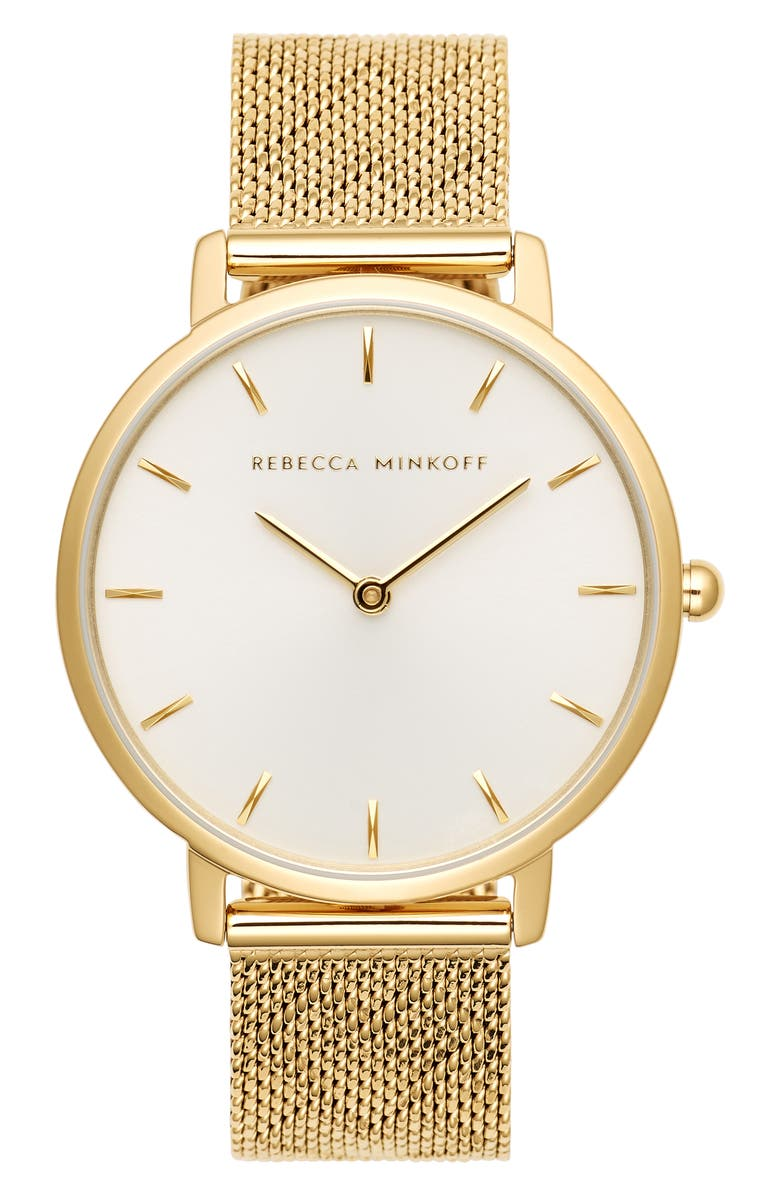 Rebecca Minkoff Major Mesh Hearts Strap Watch 35mm