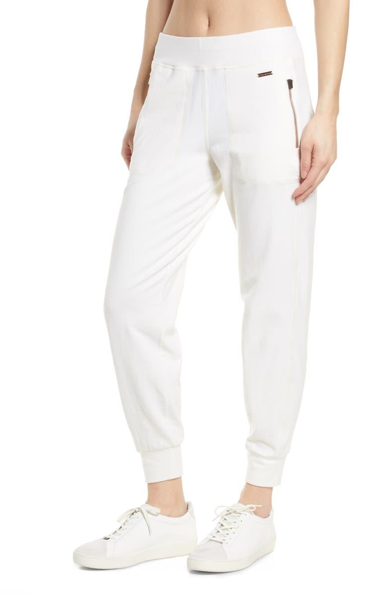 SWEATY BETTY Garudasana Luxe Sweatpants, Main, color, 100