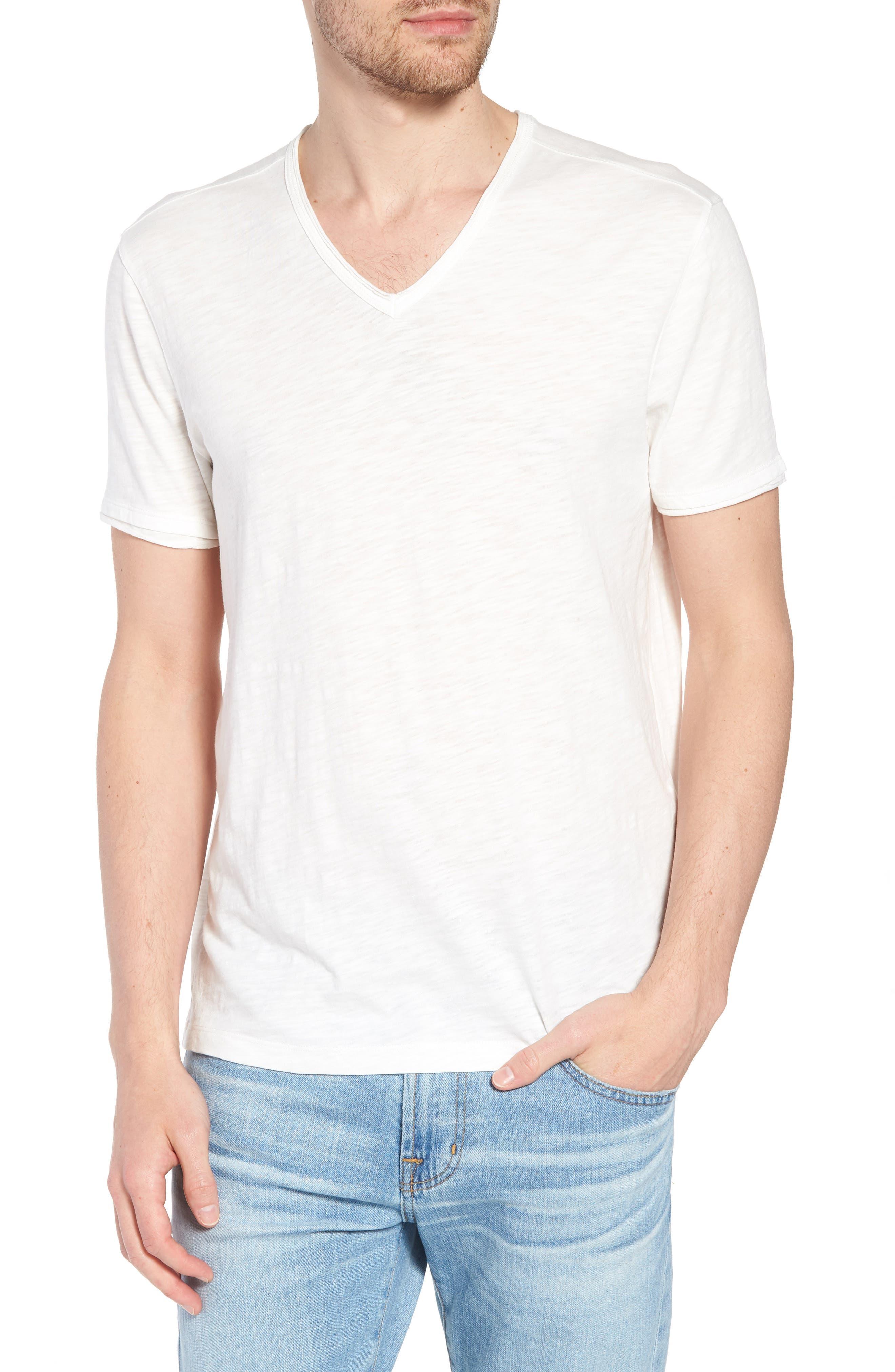 Star Usa Slim Fit Slubbed V-Neck T-Shirt
