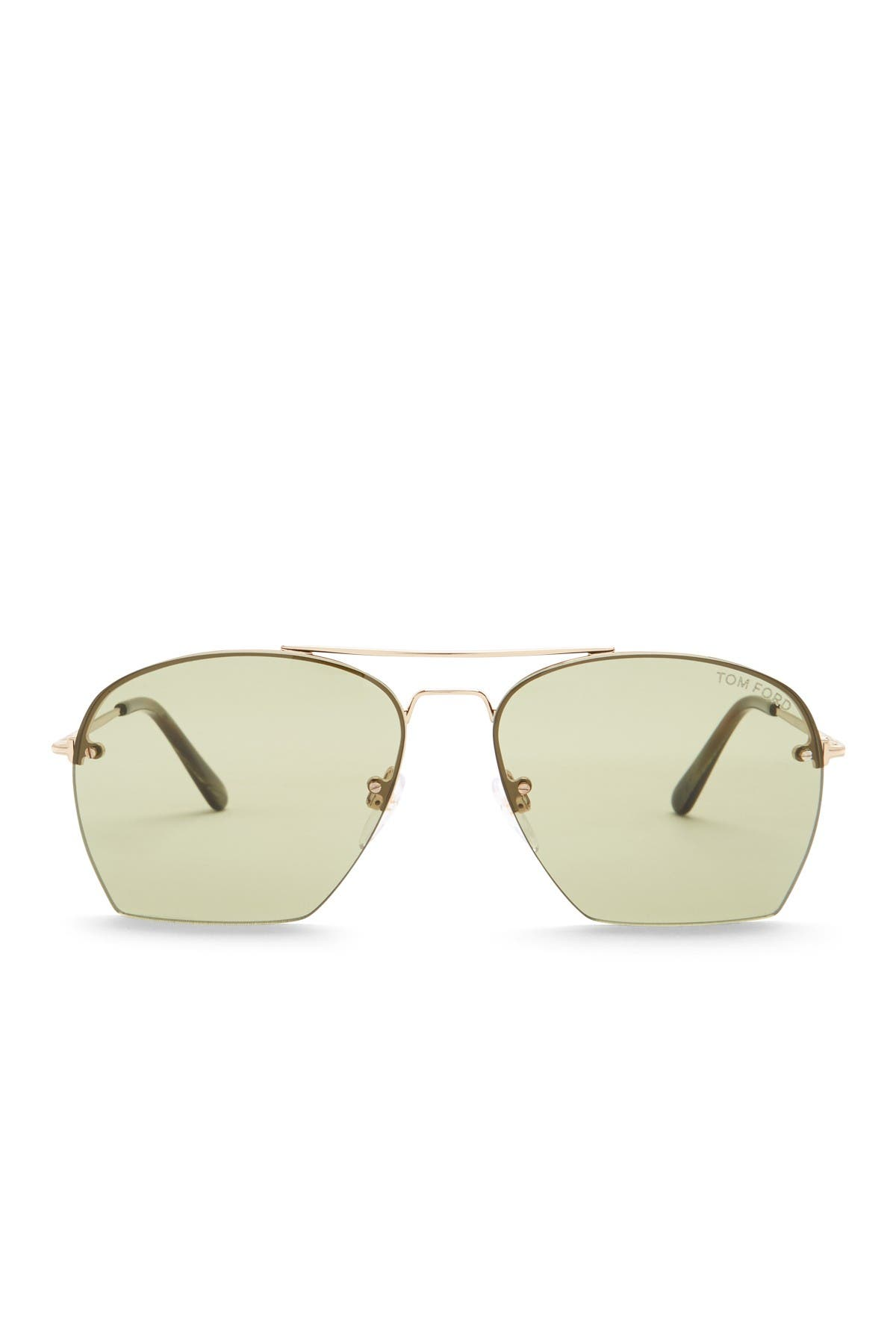 Image of Tom Ford Modified 58mm Aviator Sunglasses