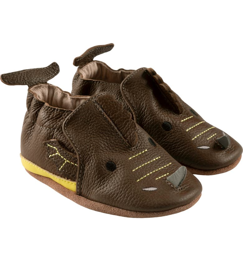 ROBEEZ<SUP>®</SUP> Drake Dragon Crib Shoe, Main, color, OLIVE