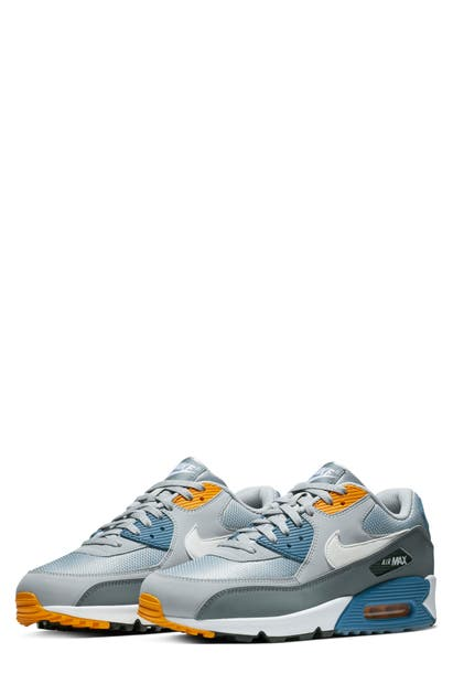 sports shoes 22892 4eda2 Nike Air Max 90 Essential Sneaker In Wolf Grey  White  Indigo Storm