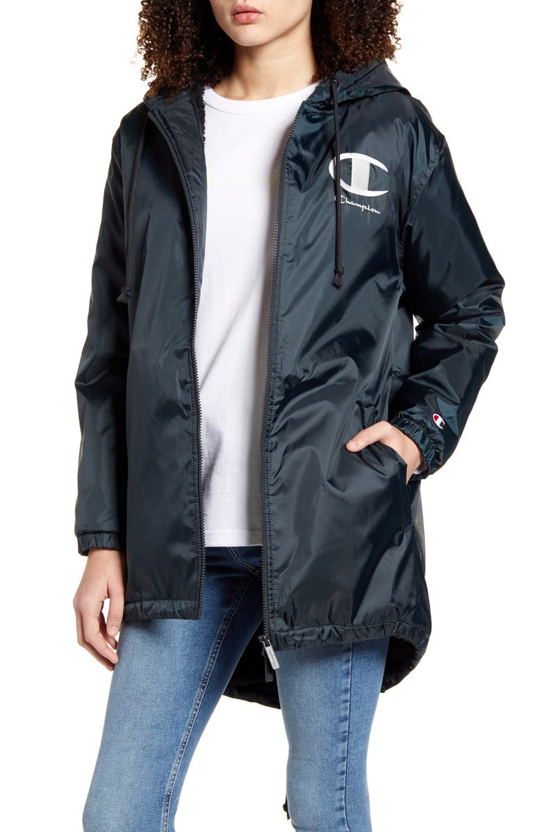CHAMPION Fishtail Hooded Parka, Main, color, 001