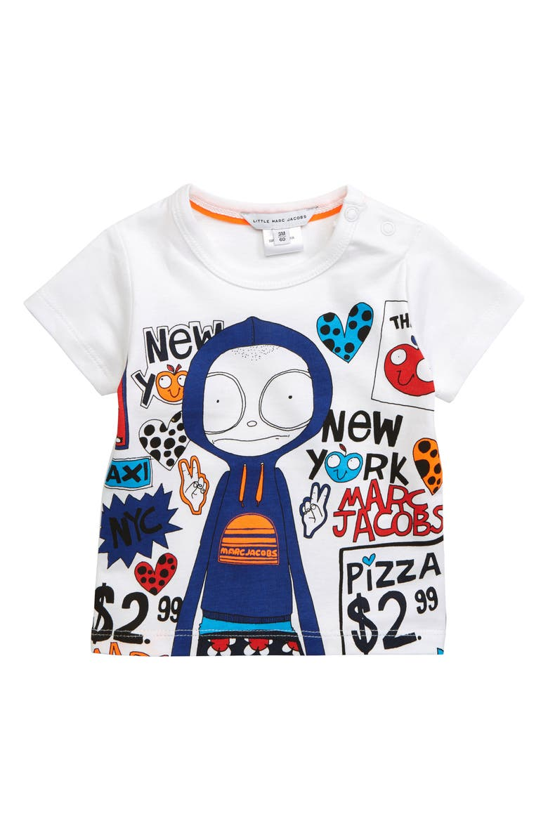 LITTLE MARC JACOBS Mr. Marc Graphic T-Shirt, Main, color, 100
