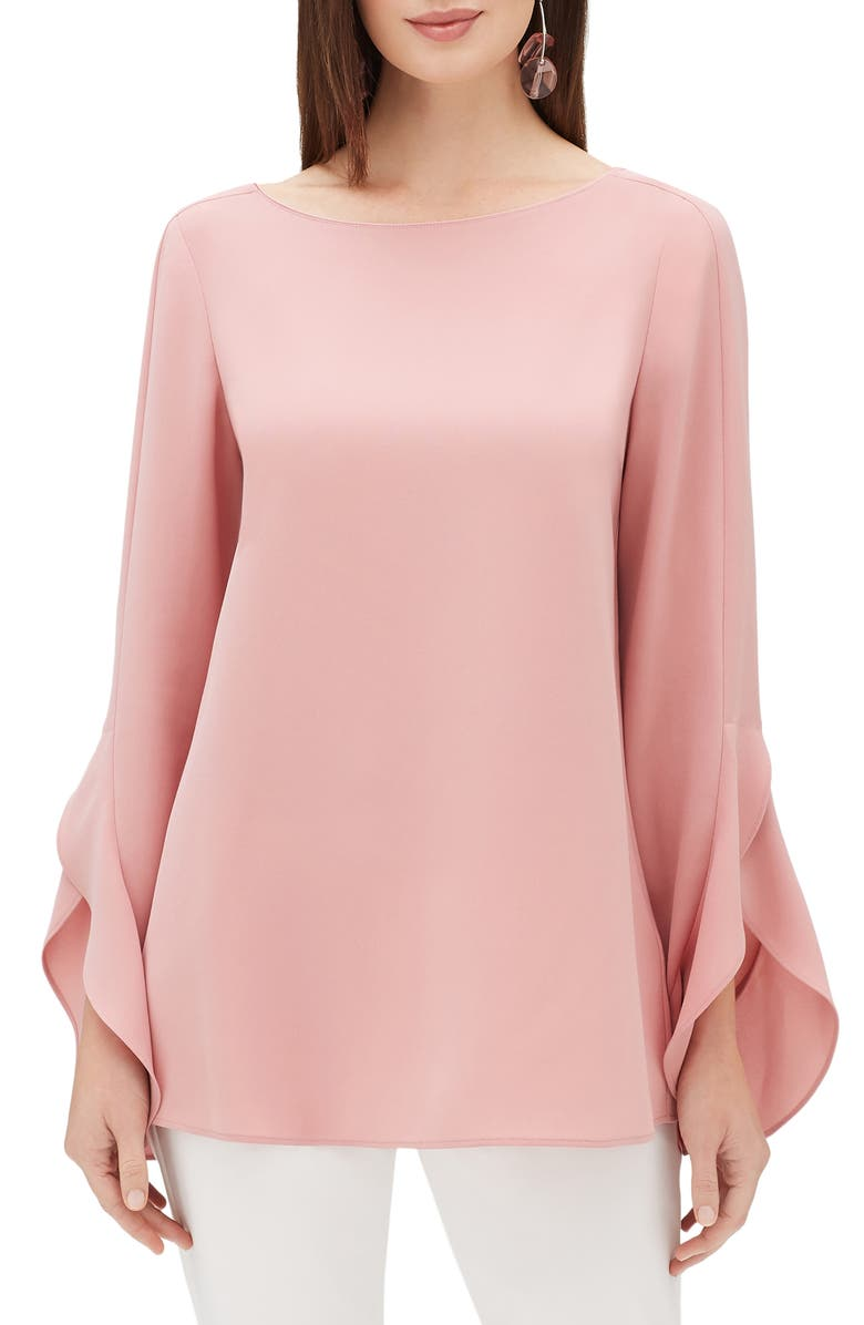 LAFAYETTE 148 NEW YORK Emory Finesse Crepe Blouse, Main, color, ROSETTE