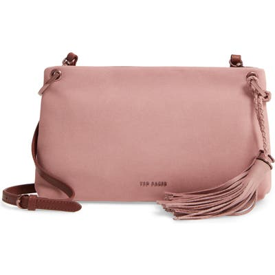 Ted Baker London Demetra Tassel Leather Crossbody Bag - Brown