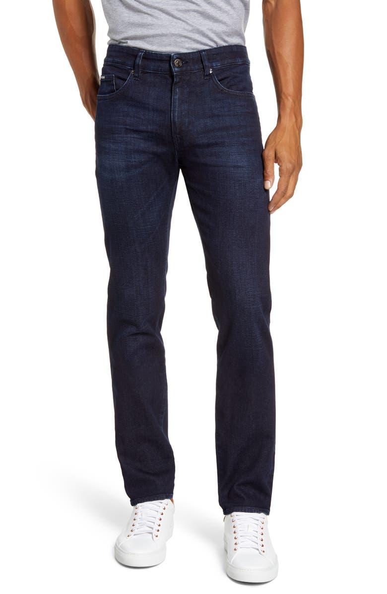 BOSS Delaware Slim Leg Jeans, Main, color, BLUE